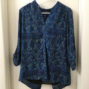 NWOT Notations Multi-Colored Shell Blouse, Medium